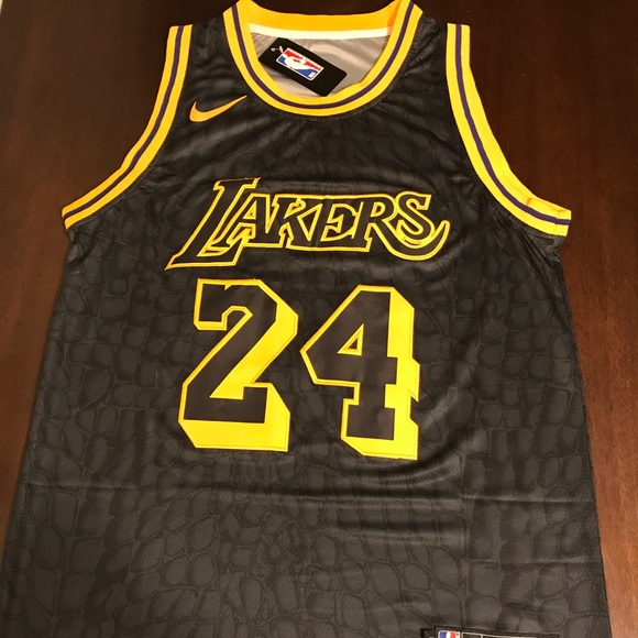 f3dec66a8 New Kobe Bryant Black Mamba Nike Jersey LA Lakers